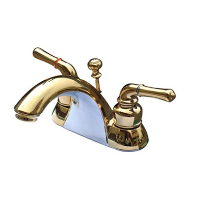 St. Charles Centerset Bathroom Faucet with Double Lever Handles Finish: Polished Brass