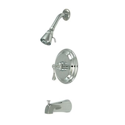 Volume Control Tub and Shower Faucet with Buckingham Lever Handles Finish: Polished Chrome