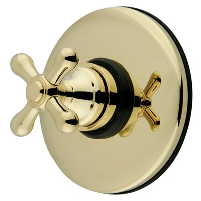 Wall Volume Control Faucet Shower Faucet Trim Only with Metal Cross Handles Finish: Polished Brass