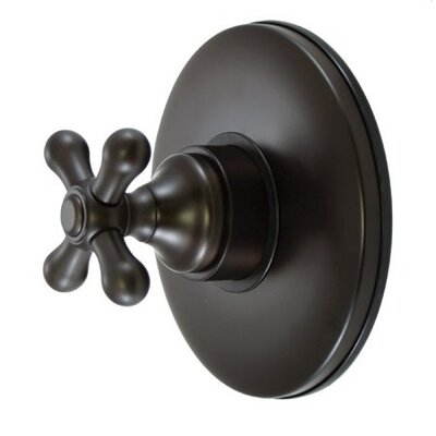 Wall Volume Control Faucet Shower Faucet Trim Only with Metal Cross Handles Finish: Oil Rubbed Bronze