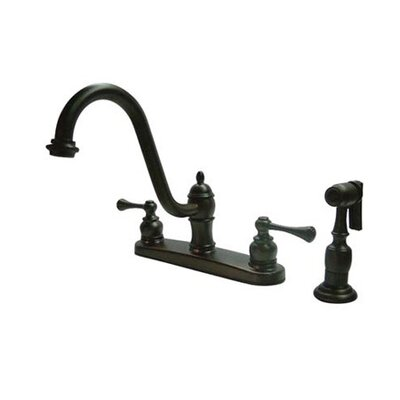 Vintage Centerset Kitchen Faucet with Buckingham Lever Handles Finish: Oil Rubbed Bronze