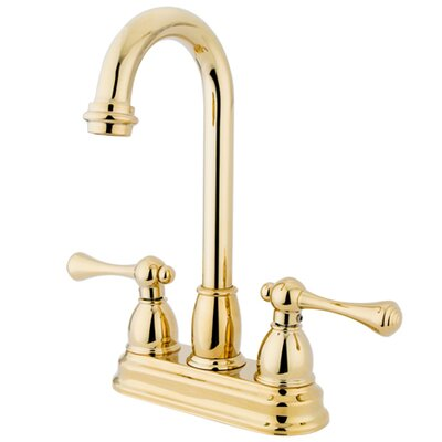 Touchless Double Handle Kitchen Faucet Finish: Polished Brass