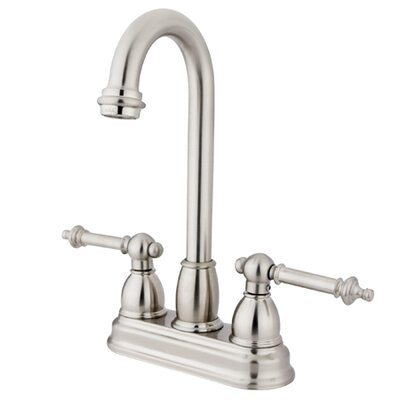 Double Handle Centerset Bar Faucet with Templeton Lever Handles Finish: Satin Nickel