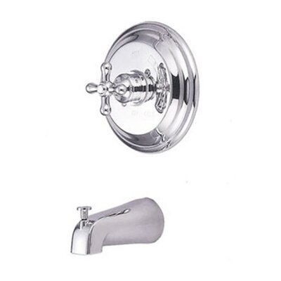 Vintage Thermostatic Pressure Balanced Tub and Shower Faucet Trim with Cross Handles Finish: Polished Chrome