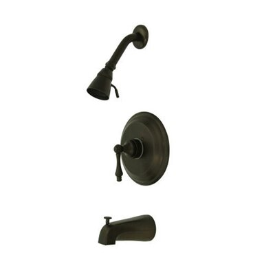 Vintage Thermostatic Pressure Balanced Tub and Shower Faucet with Metal Lever Handles Finish: Oil Rubbed Bronze