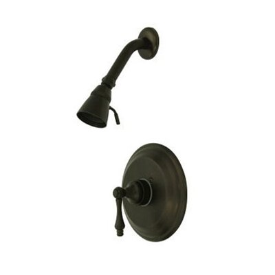 Vintage Thermostatic Pressure Balanced Shower Faucet with Metal Lever Handles Finish: Oil Rubbed Bronze