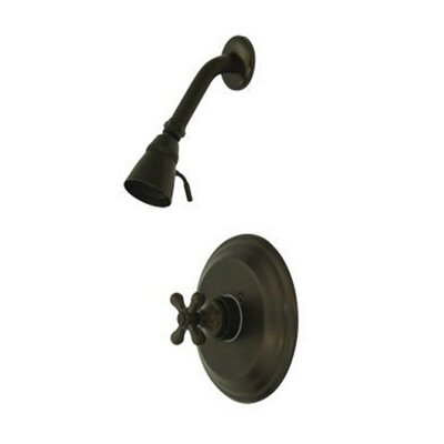 Vintage Thermostatic Pressure Balanced Shower Faucet with Metal Cross Handles Finish: Oil Rubbed Bronze