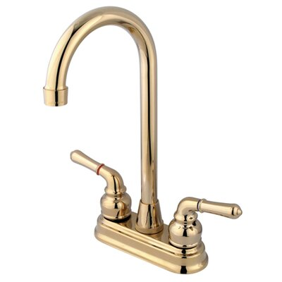 Magellan Centerset Bar Faucet with Magellan Lever Handles Finish: Polished Brass