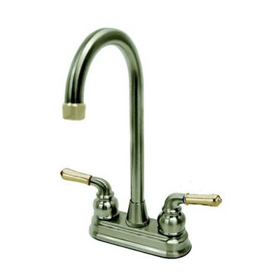 Magellan Centerset Bar Faucet with Magellan Lever Handles Finish: Satin Nickel/Polished Brass