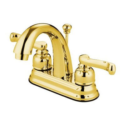 Royale Centerset Double Handle Bathroom Faucet with Drain Assembly Finish: Polished Brass