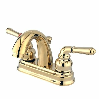 St. Charles Centerset Bathroom Sink Faucet with Double Lever Handles Finish: Polished Brass