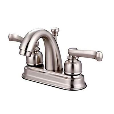 Royale Centerset Bathroom Faucet with Double Lever Handles Finish: Satin Nickel