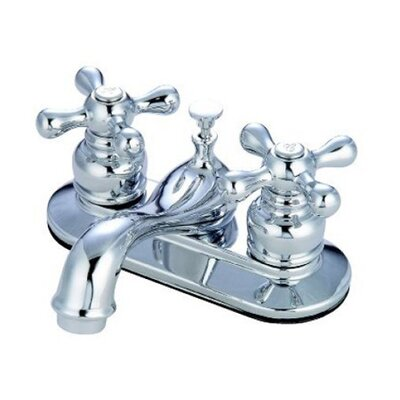 Elizabeth Centerset Faucet with Double Metal Cross Handles Finish: Polished Chrome