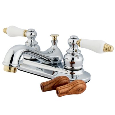 Elizabeth Centerset Faucet with Double Porcelain Lever Handles Finish: Polished Chrome/Polished Brass