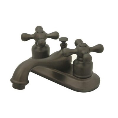 Elizabeth Centerset Faucet with Double Metal Cross Handles Finish: Oil Rubbed Bronze