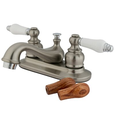 Elizabeth Centerset Faucet with Double Porcelain Lever Handles Finish: Satin Nickel/Polished Chrome