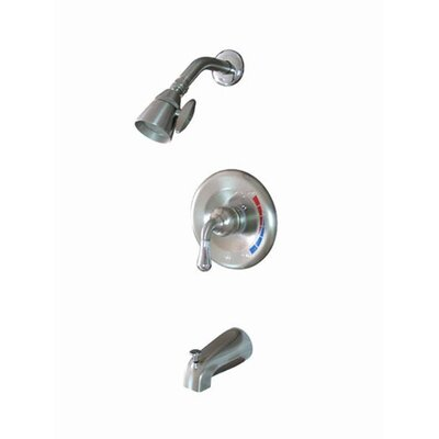 St. Charles Pressure Balanced Volume Control Tub and Shower Faucet Finish: Satin Nickel / Polished Chrome