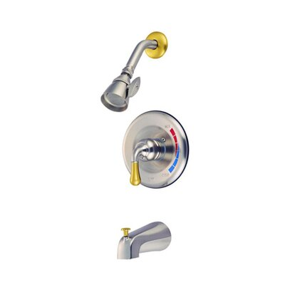 St. Charles Pressure Balanced Volume Control Tub and Shower Faucet Finish: Satin Nickel / Polished Brass