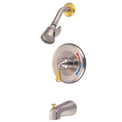 St. Charles Volume Control Tub and Shower Faucet Trim Finish: Satin Nickel / Polished Brass