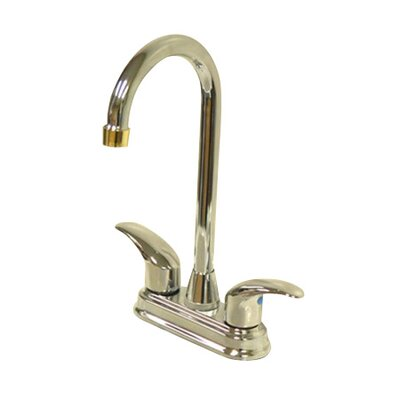 Daytona Double Handle Centerset Bar Faucet with Legacy Lever Handles Finish: Satin Nickel/Polished Chrome