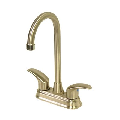Daytona Double Handle Centerset Bar Faucet with Legacy Lever Handles Finish: Polished Brass