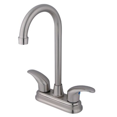 Daytona Double Handle Centerset Bar Faucet with Legacy Lever Handles Finish: Satin Nickel