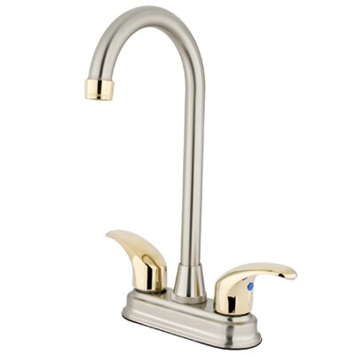 Daytona Double Handle Centerset Bar Faucet with Legacy Lever Handles Finish: Satin Nickel/Polished Brass