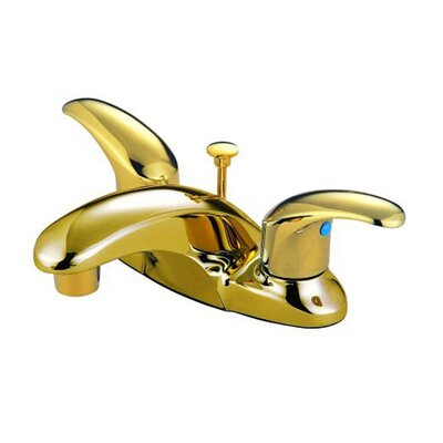 Daytona Centerset Double Handle Bathroom Faucet with Drain Assembly Finish: Polished Brass