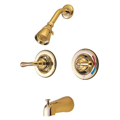St. Charles Pressure Balanced Volume Control Tub and Shower Faucet Finish: Polished Brass
