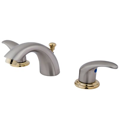 Daytona Mini Widespread Bathroom Faucet with Double Lever Handles Finish: Satin Nickel/Polished Brass
