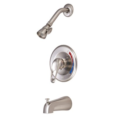 Volume Control Tub and Shower Faucet Finish: Satin Nickel
