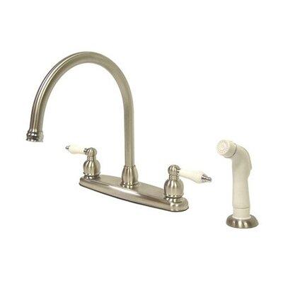 Victorian Centerset Hot & Cold Water Dispenser Finish: Satin Nickel/ Polished Brass