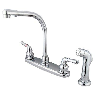 Magellan Double Handle Centerset Kitchen Faucet Finish: Chrome
