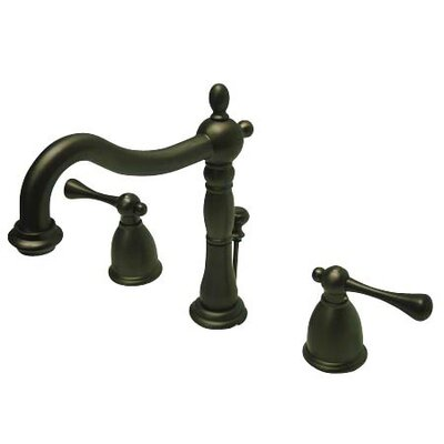 Elizabeth Widespread Bathroom Faucet with Double Lever Handles Finish: Oil Rubbed Bronze