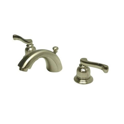 Mini Widespread Bathroom Faucet with Double Lever Handles Finish: Satin Nickel
