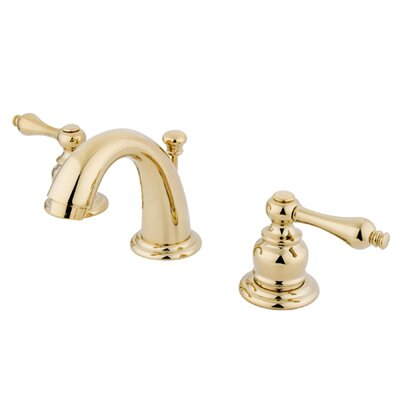 Mini-Widespread Double Handle Bathroom Faucet with Drain Assembly Finish: Polished Brass