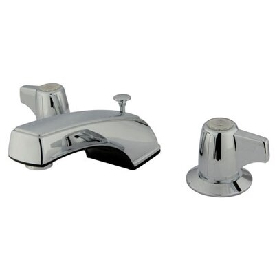 Widespread Bathroom Faucet with Double Lever Handles Finish: Metal Polished Chrome with Pop-up