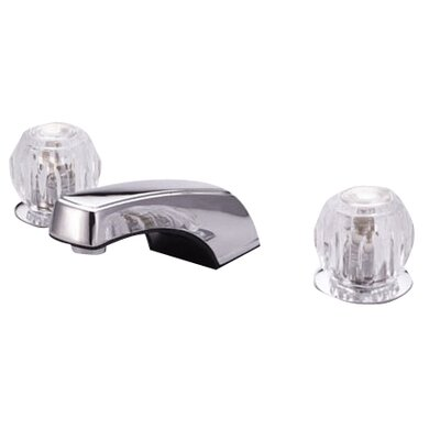 Widespread Bathroom Faucet with Double Knob Handles Drain Body: With Plastic Drain