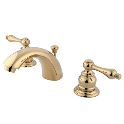 Elizabeth Mini Widespread Bathroom Faucet with Double Lever Handles Finish: Polished Brass