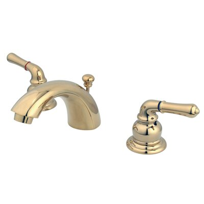 Mini Widespread Bathroom Faucet with Double Lever Handles Finish: Polished Brass, Drain: With Pop Up Drain