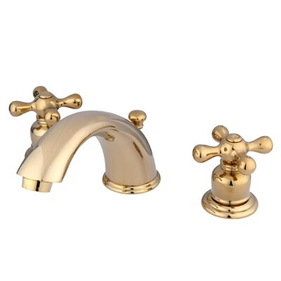 Magellan Widespread Bathroom Faucet with Double Cross Handles Finish: Polished Brass