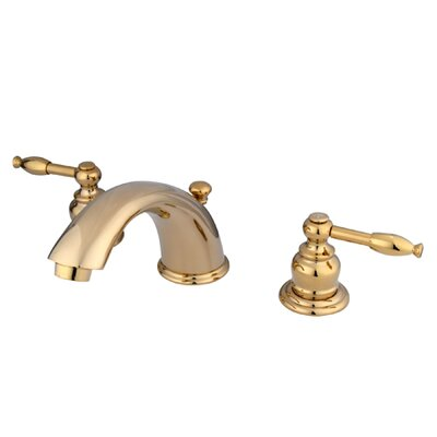 Magellan Widespread Bathroom Faucet with Double Lever Handles Finish: Polished Brass