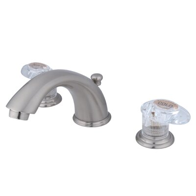 Magellan Widespread Faucet with Double Push Tilt Handles Finish: Satin Nickel