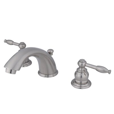 Magellan Widespread Bathroom Faucet with Double Lever Handles Finish: Satin Nickel