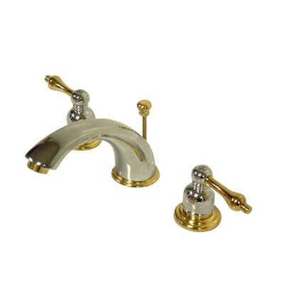 Widespread Bathroom Faucet with Double Metal Lever Handles Finish: Polished Chrome/Polished Brass