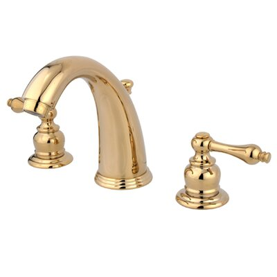 Widespread Bathroom Faucet with Double Metal Lever Handles Finish: Polished Brass