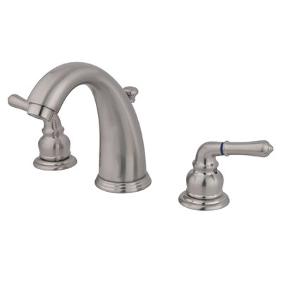 Widespread Bathroom Faucet with Double Modern Lever Handles Finish: Satin Nickel