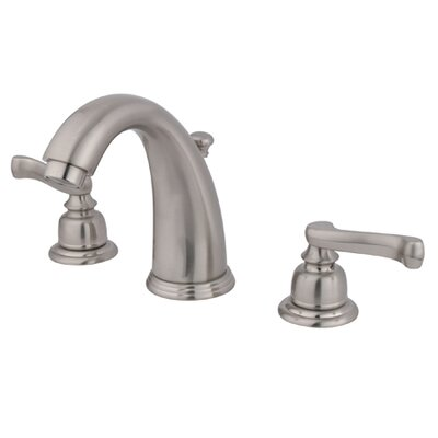 Widespread Bathroom Faucet with Double French Lever Handles Finish: Satin Nickel