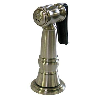 Brass Kitchen Side Sprayer with 48 Hose Finish: Satin Nickel