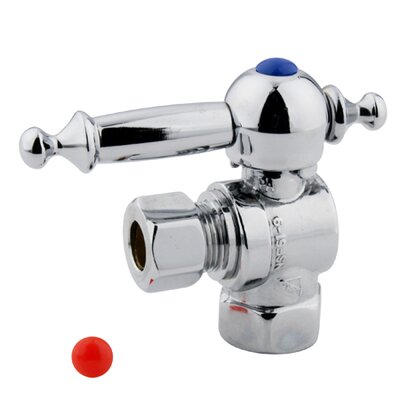 1.75 x 2.75 Decorative Quarter Turn Valves Finish: Chrome